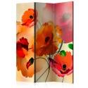 Paravent 3 volets - Velvet Poppies [Room Dividers]