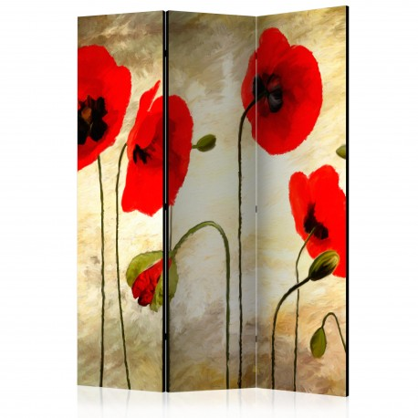 Paravent 3 volets  Golden Field of Poppies [Room Dividers]