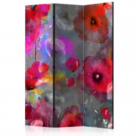 Paravent 3 volets - Painted Poppies [Room Dividers]