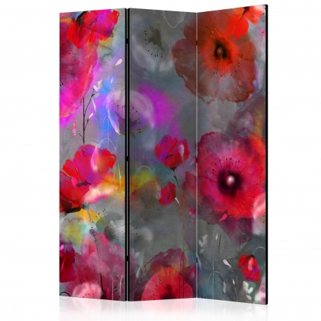 Paravent 3 volets  Painted Poppies [Room Dividers]