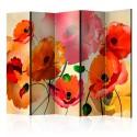Paravent 5 volets - Velvet Poppies II [Room Dividers]