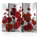 Paravent 5 volets - Poppies in the Moonlight II [Room Dividers]