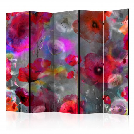Paravent 5 volets  Painted Poppies II [Room Dividers]