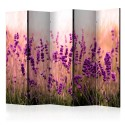 Paravent 5 volets - Lavender in the Rain II [Room Dividers]