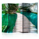 Paravent 5 volets - Emerald Lake II [Room Dividers]