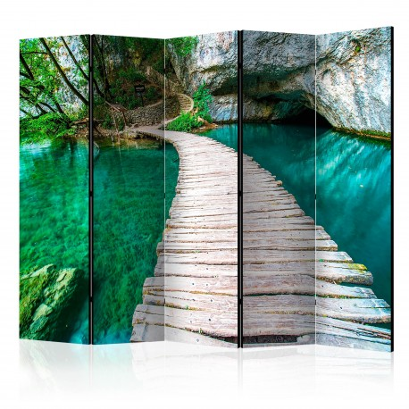 Paravent 5 volets  Emerald Lake II [Room Dividers]