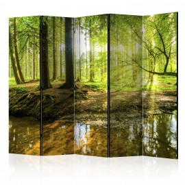 Paravent 5 volets - Forest Lake II [Room Dividers]