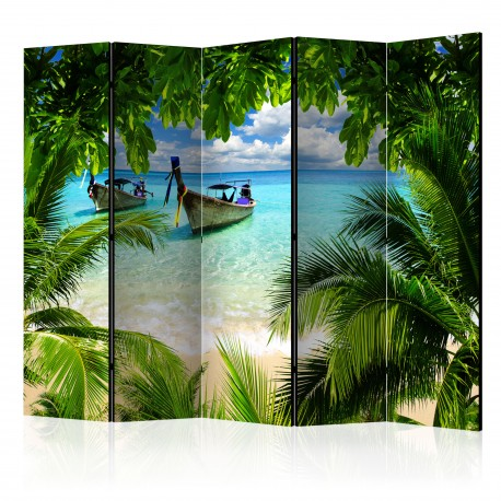 Paravent 5 volets  Tropical Paradise II [Room Dividers]
