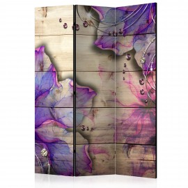 Paravent 3 volets - Purple Memory [Room Dividers]