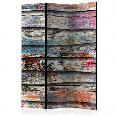 Paravent 3 volets  Colourful Wood [Room Dividers]
