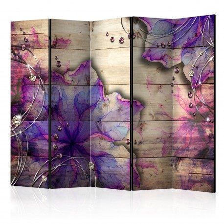 Paravent 5 volets  Purple Memory II [Room Dividers]
