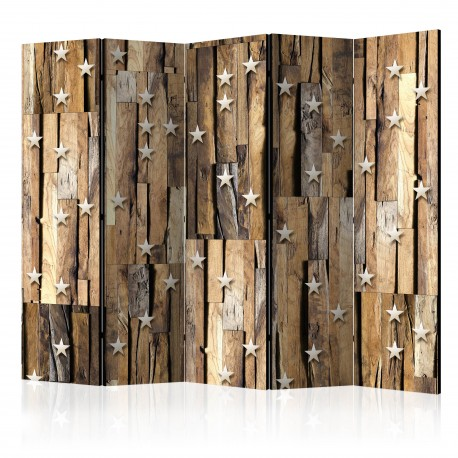 Paravent 5 volets  Wooden Constellation II [Room Dividers]