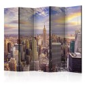 Paravent 5 volets - New York Morning II [Room Dividers]