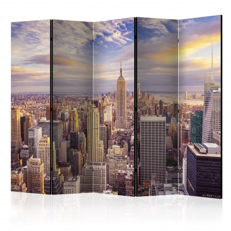 Paravent 5 volets  New York Morning II [Room Dividers]