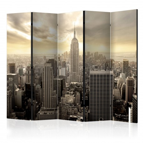 Paravent 5 volets  Light of New York II [Room Dividers]