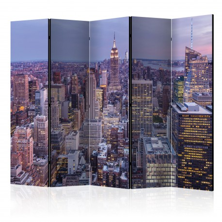 Paravent 5 volets  Evening City II [Room Dividers]