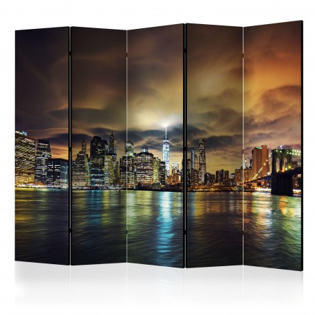 Paravent 5 volets  New York Sky II [Room Dividers]