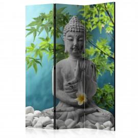 Paravent 3 volets - Meditating Buddha [Room Dividers]