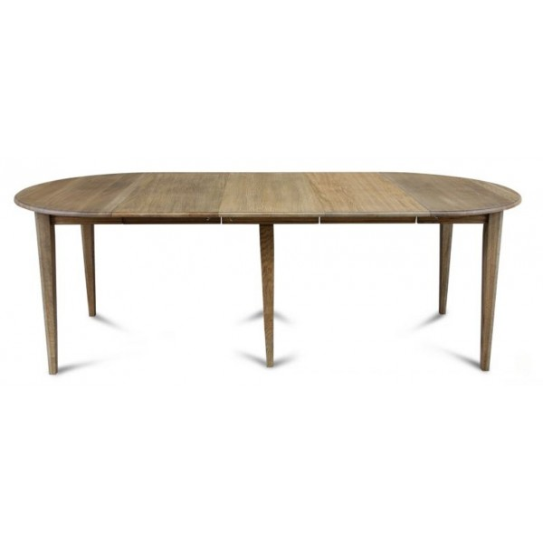 Pied de table fuseau bois for Table ronde chene massif avec allonges