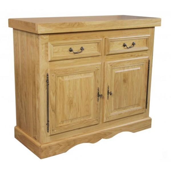 bahut ch ne massif 2 portes 2 tiroirs la bresse beaux meubles pas chers. Black Bedroom Furniture Sets. Home Design Ideas