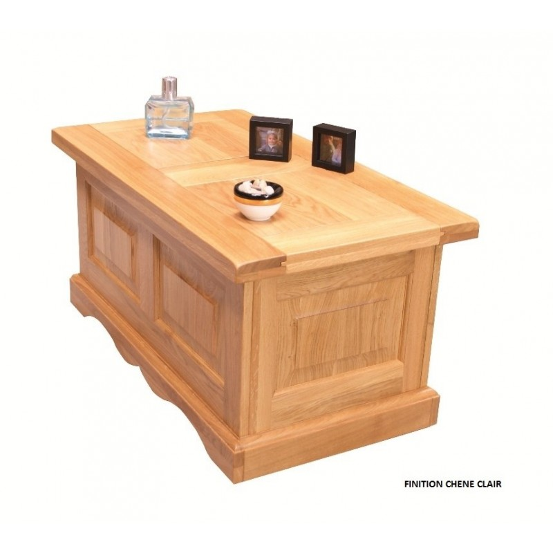 Table basse bar ch ne clair beaux meubles pas chers for Table de salon en chene massif