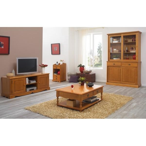 Meuble Banc TV Pin Miel de Style Anglais  Beaux Meubles Pas Chers -> Meuble Tv Pin Anglais