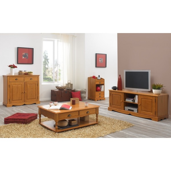 ensemble table basse et meuble tv pin miel beaux meubles pas chers. Black Bedroom Furniture Sets. Home Design Ideas
