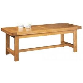 Table de Ferme Rectangulaire Chêne Moyen. Pied Carre