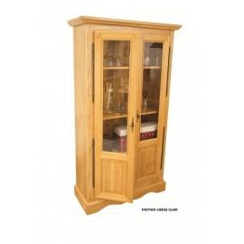 Bibliotheque 2 Portes Semi-vitrees Chêne Clair