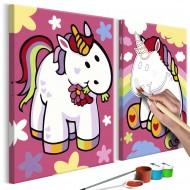 Tableau à peindre par soimême  Licornes