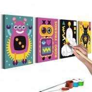 Tableau à peindre par soimême  Robots
