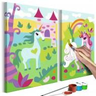 Tableau à peindre par soimême  Licornes féeriques