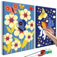 Tableau à peindre par soimême  Papillon et licorne