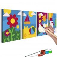 Tableau à peindre par soimême  Saisons de lannée