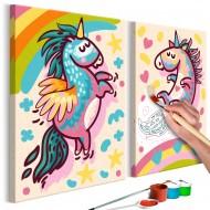 Tableau à peindre par soimême  Licornes dodues