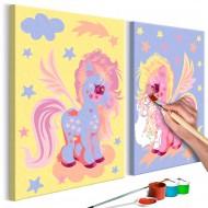 Tableau à peindre par soimême  Licornes magiques