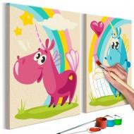 Tableau à peindre par soimême  Licornes mignones
