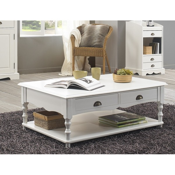 table basse blanche de style anglais beaux meubles pas chers. Black Bedroom Furniture Sets. Home Design Ideas