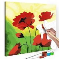 Tableau à peindre par soimême  Poppies