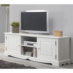 meuble tv hifi blanc charme de style anglais beaux meubles pas chers. Black Bedroom Furniture Sets. Home Design Ideas