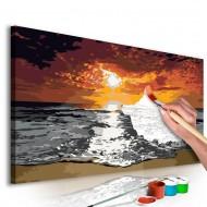Tableau à peindre par soimême  Mer (ciel enflammé)