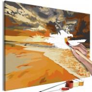 Tableau à peindre par soimême  Plage dorée