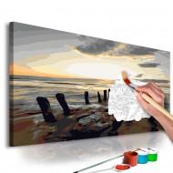 Tableau à peindre par soimême  Plage (lever de soleil)