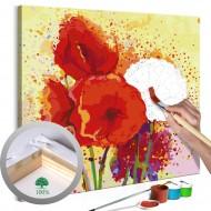 Tableau à peindre par soimême  Coquelicots modernes