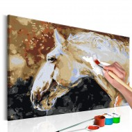 Tableau à peindre par soimême  Cheval blanc