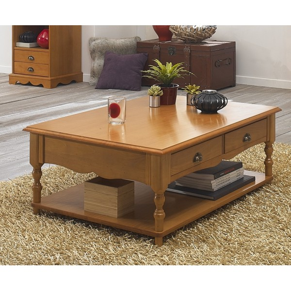 table basse pin miel rectangle de style anglais beaux meubles pas chers. Black Bedroom Furniture Sets. Home Design Ideas