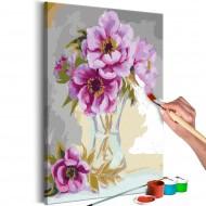 Tableau à peindre par soimême  Fleurs dans un vase