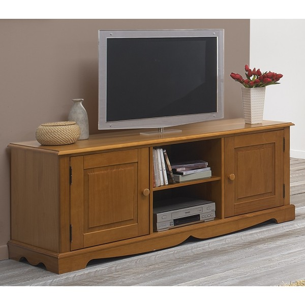 meuble banc tv pin miel de style anglais beaux meubles. Black Bedroom Furniture Sets. Home Design Ideas