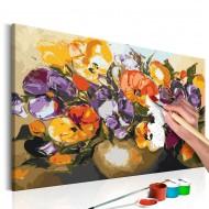 Tableau à peindre par soimême  Violas dans un vase
