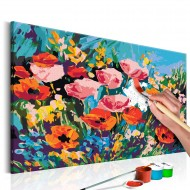 Tableau à peindre par soimême  Fleurs de champs colorées